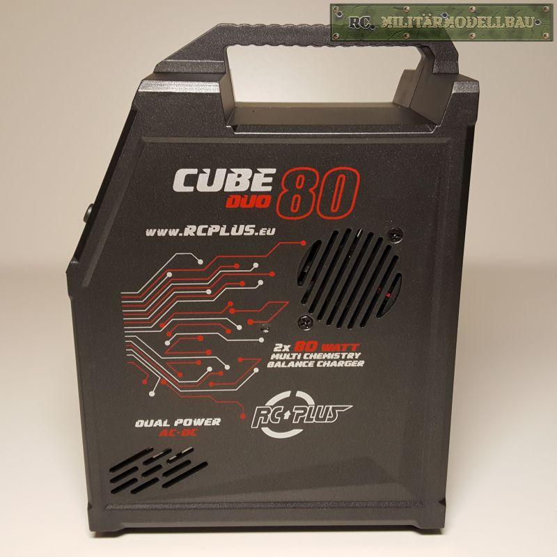RC Militärmodellbau Ladegerät Cube 80 DUO ACDC 2 x 80